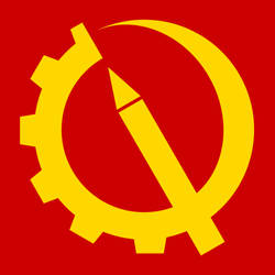 Gear, Sickle, Pen (Red and Yellow Version) by BullMoose1912
