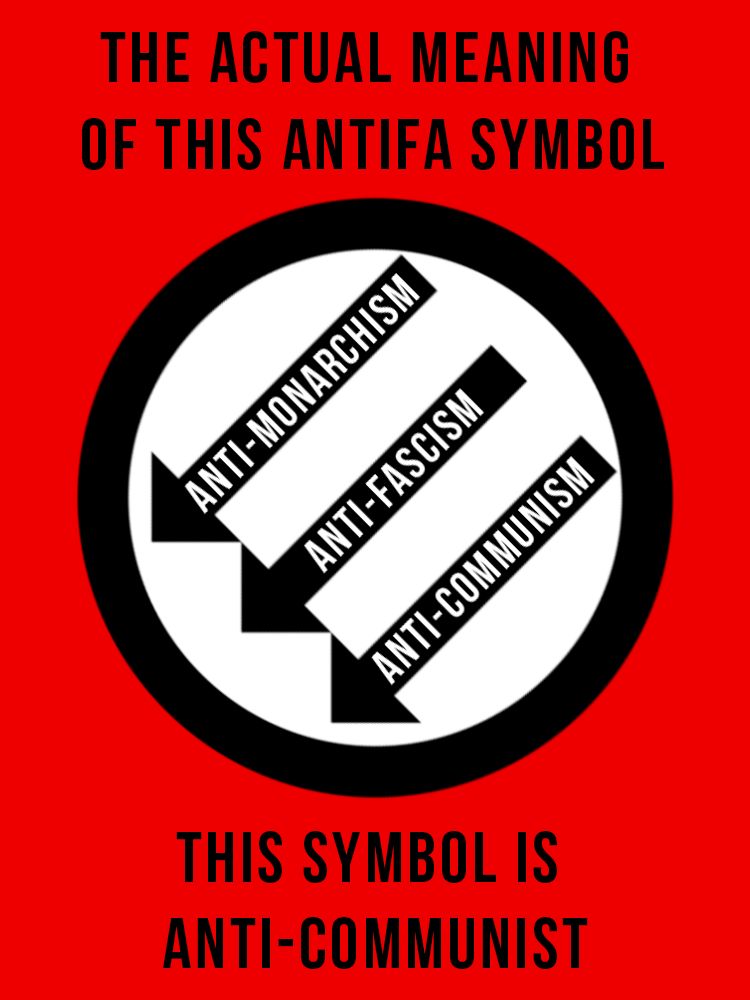 About that popular antifascist symbol... by BullMoose1912