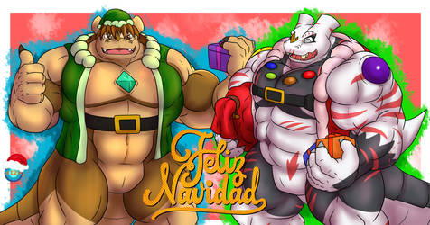 Av and Helix Merry Cristmas by B12A
