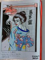 Inktober 3 Kitsune by yo-sociopath