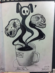 Coffee junkie by yo-sociopath