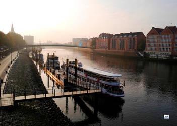 The Foggy Morning.Bremen by Nastuescha