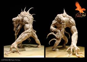 Creature design sculpt by firecrow78