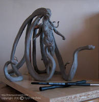 Medusa the Gorgon Sculpt wip by firecrow78