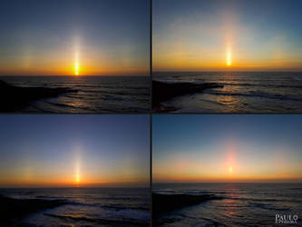 EPOD - Sun Pillar Over Lourinha, Portugal by PauloPPereira