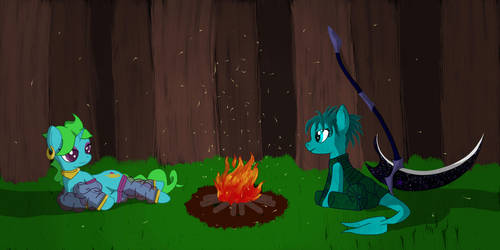 AroundTheCampfire by TheFoxern