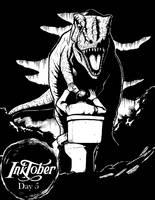 Inktober Day 5: Jurassic Park by DecoNoir