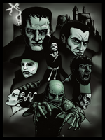 Universal Horror Classics by DecoNoir