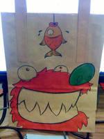 Yummy Fishy - Lunchbag Art by thepaddedcell