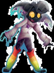 Rainbow socks by Roxalew