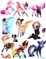 11 FREE creature adoptables - Closed by Roxalew
