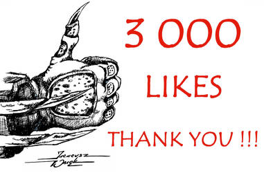 Predators hand for CP to celebrate 3000 likes by JohnerPL