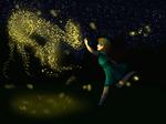 Midnight Fireflies (redrawn!) by ArtistsClique