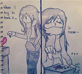 broken girl by BlueStarCat
