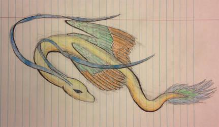 Parrot Dragon by EnsembleofWolves
