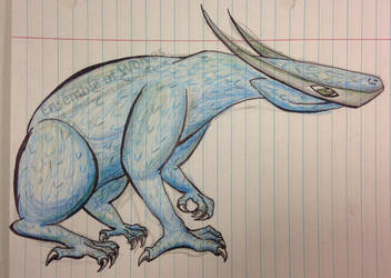 Blue Dragon by EnsembleofWolves