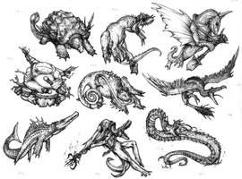 Savageish reptile units by Rodrigo-Vega
