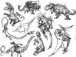 Torokish dinosaurs by Rodrigo-Vega