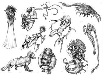 Horror film monsters II by Rodrigo-Vega