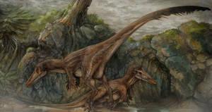 Austroraptor scene by Rodrigo-Vega