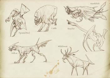 Hell Fauna by Rodrigo-Vega