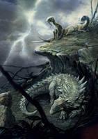 Polacanthus and Hypsilophodon by Rodrigo-Vega