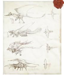 Prehistoric Dragons by Rodrigo-Vega
