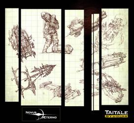 Novus AEterno Sketches by Rodrigo-Vega
