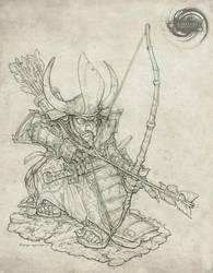 Goblin Samurai Archer by Rodrigo-Vega