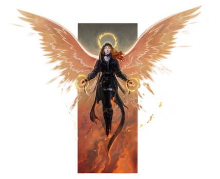 Descended Seraph by Rodrigo-Vega