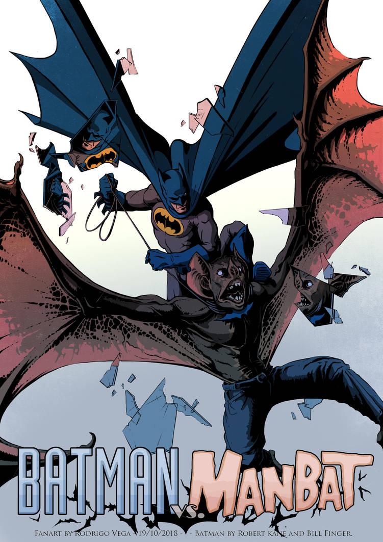 Batman Vs Manbat by Rodrigo-Vega