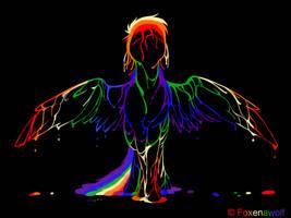 Rainbow Splash by Foxenawolf