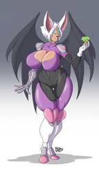 Rouge Redesign FRONT - (COMMISSION) by Kanogetz
