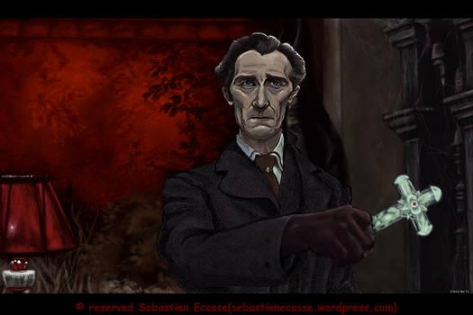 Peter Cushing Van Helsing by Sebastien-Ecosse