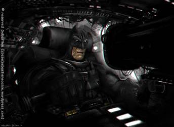 The Dark knight returns starring Clint Eastwood by Sebastien-Ecosse