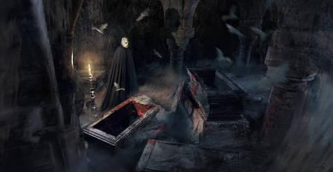 Dracula's crypt by Sebastien-Ecosse