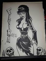 Elvira inktober 14 by somechick73
