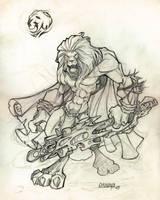 sketch lion by osnaya