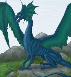 Blue Dragon by wilkolak3dh