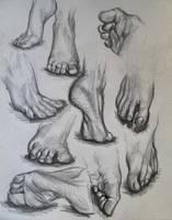 Feet Study by N-B-R-artwork