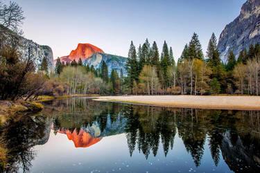 Yosemite - Halfdome by FallingFeathers