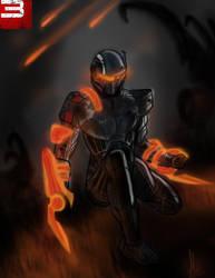Mass effect 3 Shepard by Azlaar
