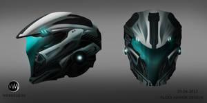 Helmet design, concept art-Webnesium. by Azlaar