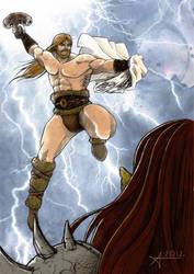 Thor Tribute by DynamicBrushStudio