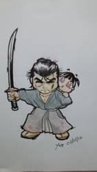 Lone wolf and cub first art 2016 by Leandroyepyep