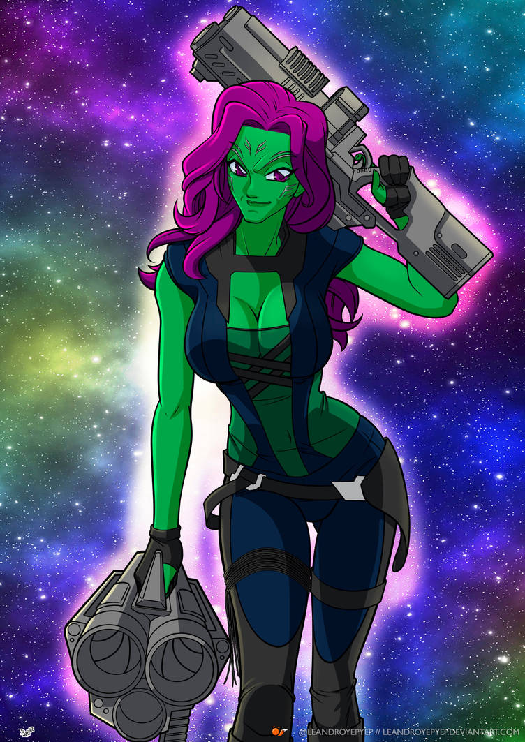 Gamora guardians of  the galaxy by Leandroyepyep