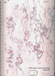 whole page of gesture drawings by gkotm