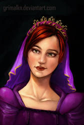 Commission: Renaissance Lady by grimalkn