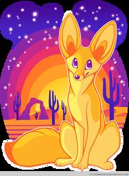 Fennec Fox in the Desert by FlannMoriath