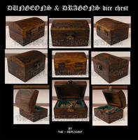 Dungeons and Dragons: custom dice chest by The-Replicant